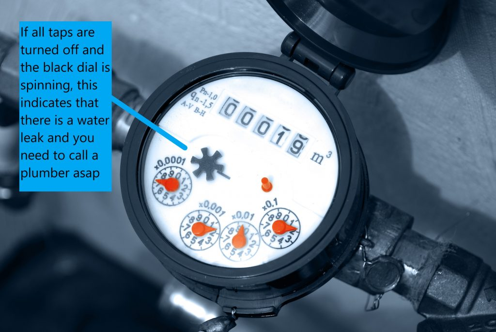 Regular plumbing service and checks on your water meter to ensure you are not loosing water