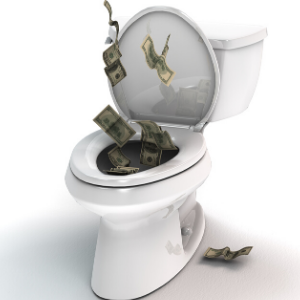 Regular plumbing maintenance prevents money being wasted and being flushed down the toilet