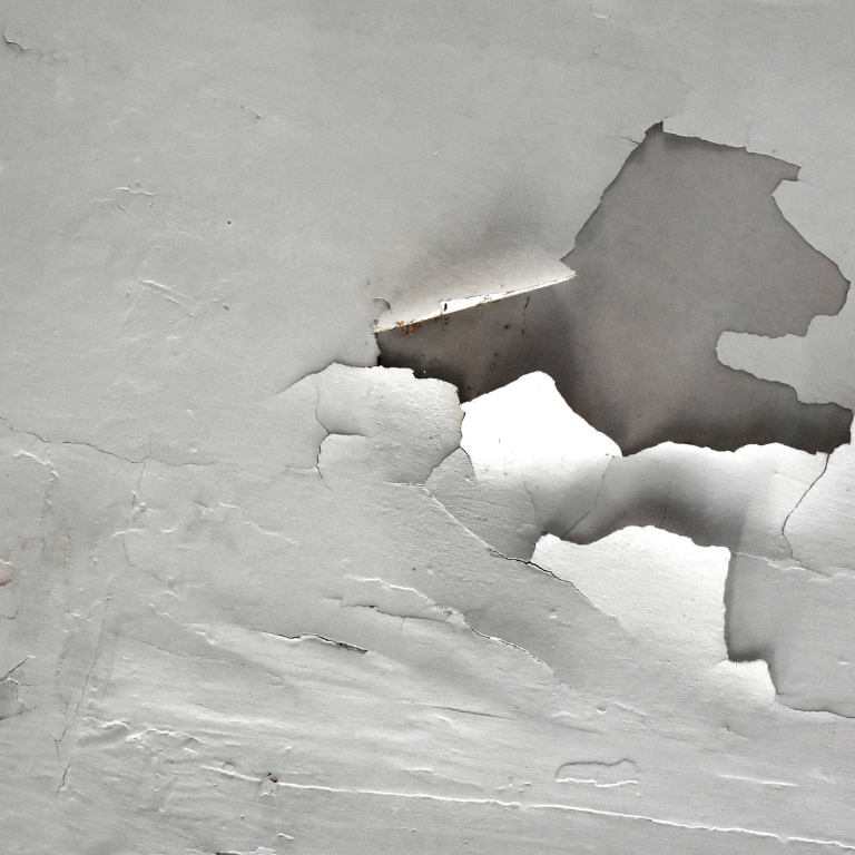 Paint flaking is often a sign of a hidden water leak